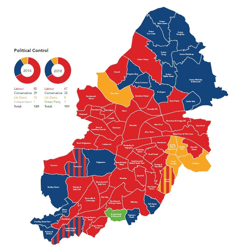map and pie chart